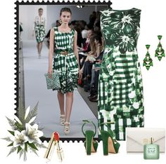 """Oscar De La Renta Floral Check"" by sherryvl on Polyvore"