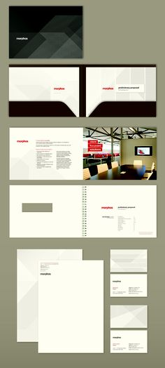 Morphos - Branding, Business Card Design, Stationery Design, Brochure and Folder Presentation Design
