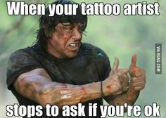 When your tattoo artist is concerned More