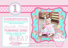 perfect shabby chic invite for h's party