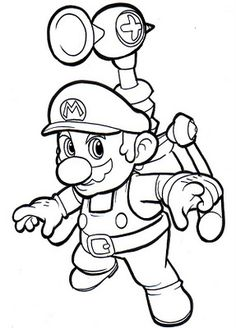 16 Free Printable Mario Bros Coloring Pages