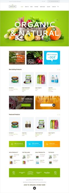 Fresh Food Organic FoodFruitVegetables ECommerce PSD Template - Ecommerce site templates