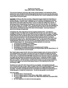 Looking to get your students, engaged, reading analytically, and writing argumentatively in a real world setting?  This simulation introduces a little known legal concept, adverse possession, as the backdrop for a Mock Supreme Court case. Intended for students taking a government, civics, or law and justice course, the simulation requires students to play roles and make arguments from a variety of perspectives fulfilling a variety of roles in the judicial system.