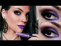 Tutorial de Maquiagem: Roxo com o batom Balada da Ricosti | Beauty And Brains