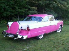 The Queen...a pink 1955 Ford Crown Victoria