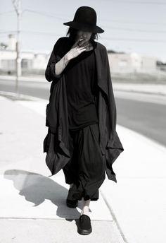 black on black layered mens fashion