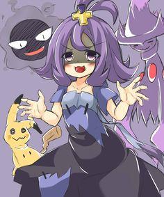 Pokemon Sun and Moon Acerola All Pokemon Games, Ghost Pokemon, Pokemon Fan Art, Pokemon Sun, Pikachu Memes, Pokemon Waifu, Pokemon Pictures, Manga, Digimon