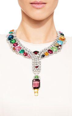 Sorell Contemporary Multi Stone Collar by Carole Tanenbaum for Preorder on Moda Operandi