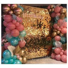 x Gold Sequin Shimmer Backdrop for Weddings, Christening, Birthday and Corporate Events anywhere in Manchester and surrounding areas. Birthday Balloon Decorations, Birthday Party Decorations, Baby Shower Decorations, Birthday Balloons, Birthday Parties, Birthday Outfits, Birthday Dresses, 21st Birthday, Sequin Wall