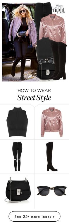 """31. Street Style"" by facking-fashion-guru on Polyvore featuring Topshop, NLY Trend, WearAll, Chloé and Yves Saint Laurent"