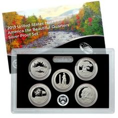 2013 S 5pc Silver America The Beautiful Quarter Proof Set