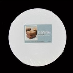 "HL: 6"" White Plastic Cake Board Circles"
