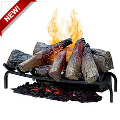 Style Selections 20.25-in Black Electric Fireplace Logs | The ...
