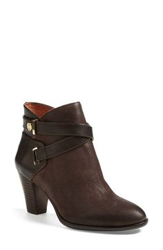 Free shipping and returns on Louise et Cie 'Ranier' Leather Bootie (Women) at Nordstrom.com. Wraparound straps detail the shaft of a chic leather bootie accented with touches of gleaming goldtone hardware and lifted by a sturdy stacked heel.