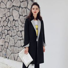 Qunitina New Fashion Trench Coat For Women Long Style Full Sleeve Autumn Coat Women