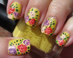 Roses on Lemon ice cream