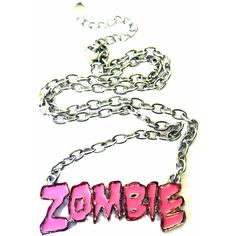 Pink Zombie Necklace | Gothic Clothing | Emo clothing | Alternative clothing | Punk clothing - Chaotic Clothing found on Polyvore