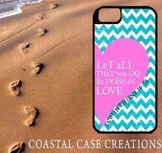 Pink Heart Chevron 1 Corinthians Bible Verse iPhone Case by CoastalCaseCreations, $26.00