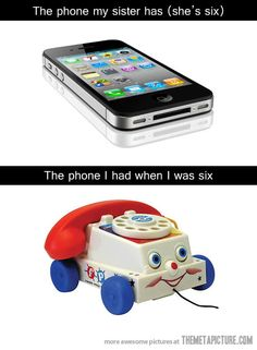 Phones then and now…