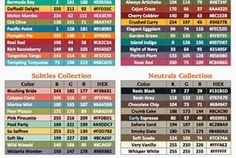 TOOL TIP TUESDAY: 2014-2015 RGB & HEX CODE CHART...