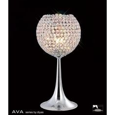 This elegant table lamp is part of the Ava range by Diyas. The frame is polished chrome and is adorned with beautiful glistening crystals Elegant Table Lamp, Chrome Frame, Crystal Table Lamps, Lamp, Ceiling Lights, Light Table, Light, Stylish Table Lamps, Polished Chrome