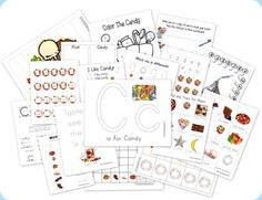 C is for Candy preschool pack