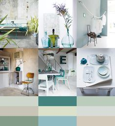 Color palette Refreshing Pale Greenblue by Kleurinspiratie.nl