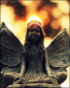 Beautiful Garden Angel...the glow of the sun looks like her halo