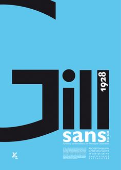 Gill Sans on Behance