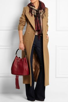 Carven | Wool-blend trench coat | NET-A-PORTER.COM