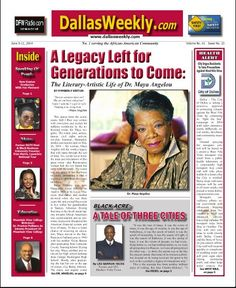"The Dallas Weekly is the most respected, most critically acclaimed and most widely read African American newsweekly in North Texas. For more than 55 years, ""The Weekly"" has informed, educated, enlightened and fought for Dallas/Fort Worth's Black community."