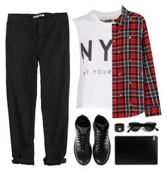 """Hey Mister"" by vanessanataly ❤ liked on Polyvore featuring The Laundry Room, GG 750, Elizabeth and James, Kenzo, casual, grunge, plaid, tomboy and classicspecs"