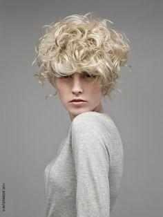 unique short curls Hair styles 2012