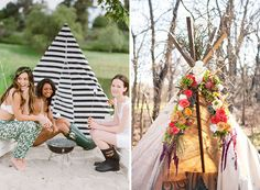 Plan a girls-only glamping trip for your bridal shower.