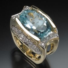 RANDY POLK DESIGNS: Brazilian aquamarine and diamonds