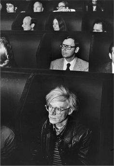 Andy Warhol no Invisible Cinema, Anthology Film Archives (1970). Em Fragments of Kubelka,