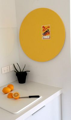 Yellow Pin Board from COLOUR POP www.colourpop.co.nz