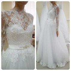 Wedding Dress,Sexy Long Sleeve Wedding Dress Ball Gown, High Neck Wedding Dresses ,Wedding Gowns,High Quality Bridal Dresses,Wedding Guest Prom Gowns, Formal Occasion Dresses,Formal Dress