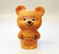 Bear MISHA mascot XXII Olympic Games 1980 in Moscow Rubber souvenir USSR by Olympiad80 on Etsy