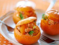 Clémentines au saumon, fenouil et fines herbes
