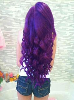 LOVE the waves and LOVE the purple color but not on hair! Lol