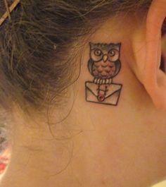 Harry potter owl tattoo (: