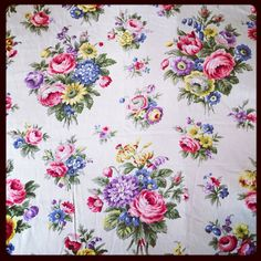 A soft floral Sateen Sanderson fabric by NicholasandSteele on Etsy