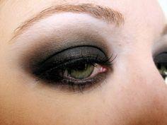 Pirate makeup. Dark, smokey, a little grungy