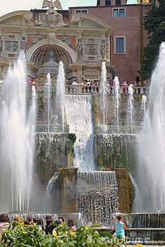 Fountain In Tivoli, Italy. Tivoli is definitely worth a day trip when in Rome. Love the fountains, gardens and architecture. Pisa, The Places Youll Go, Places To See, Voyage Rome, Tivoli Gardens, Garden Fountains, Dream Vacations, Italy Travel, Land Scape
