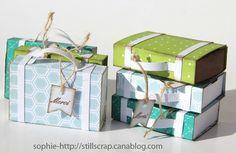 petites valises - une excellente manière d'utiliser ses chutes de papier.