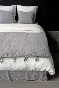 Housse de couette louane carr blanc t 2014 linge for Carre blanc linge maison housse couette