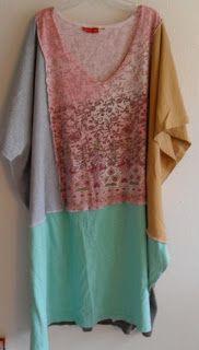 Refashion Co-op: Love Flow Creations Tee Shirt Poncho