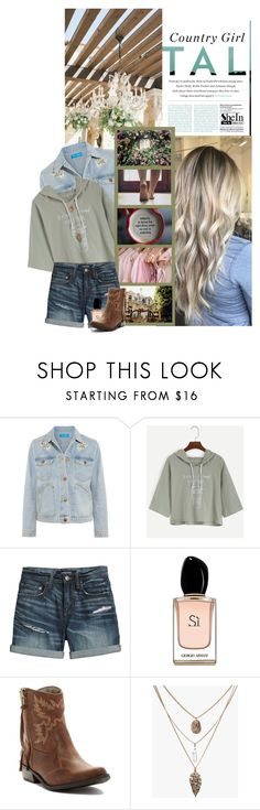 """""""Country Girl Tall"""" by xshadesofblackx ❤ liked on Polyvore featuring JULIANNE, M.i.h Jeans, Børn, Canvas by Lands' End, Armani Beauty, Michael Antonio, country, Sheinside and shein"""