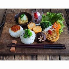 Japanese Dishes, Japanese Food, Cute Food, Yummy Food, Sushi, Shiitake, Food Presentation, Food Design, Food Plating